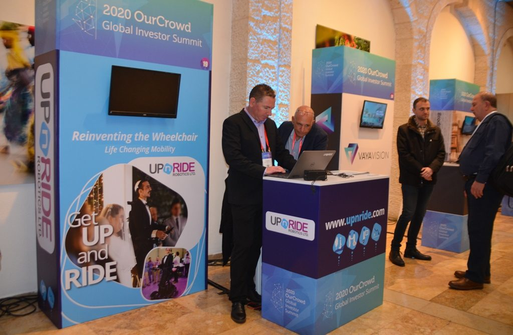 Jerusalem Israel OurCrowd Summit booth for UpnRide