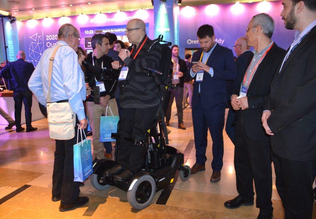Amir Gofer using UpnRide at OurCrowd Global Summit