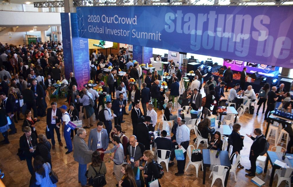 Main hall of Jerusalem International Conference Center for OurCrowd Global Summit 2020