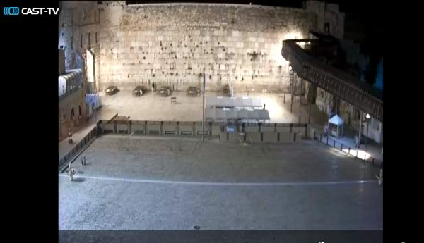 Western Wall Jerusalem Israel Old city web cam during COVID-19