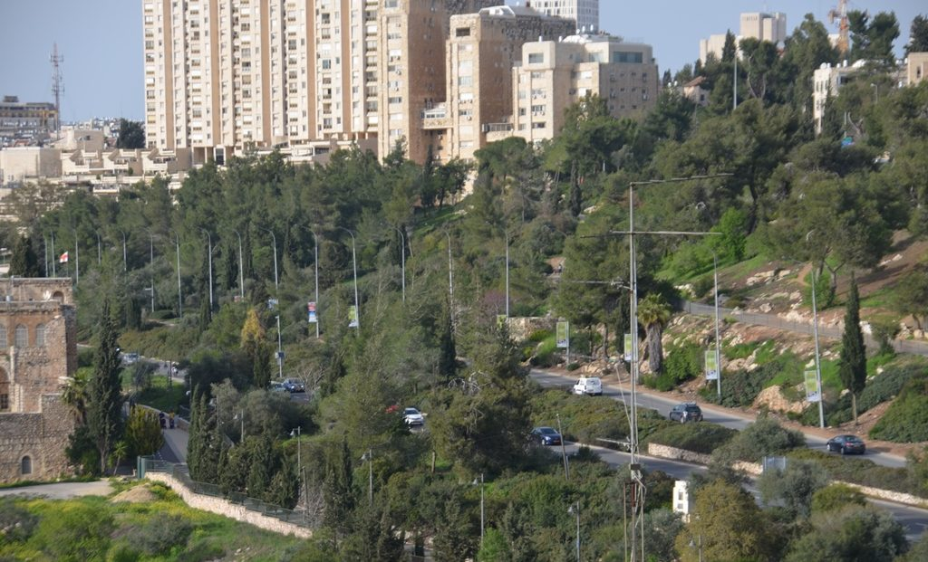 Jerusalem street during Corona