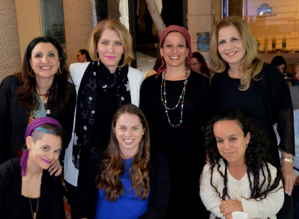 Presenters on International Women's Day at Mount Herzl in Jerusalem Israel