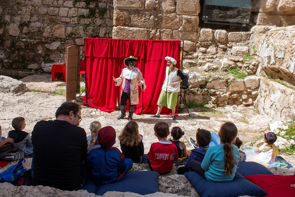 Jerusalem Tower of David Purim performance