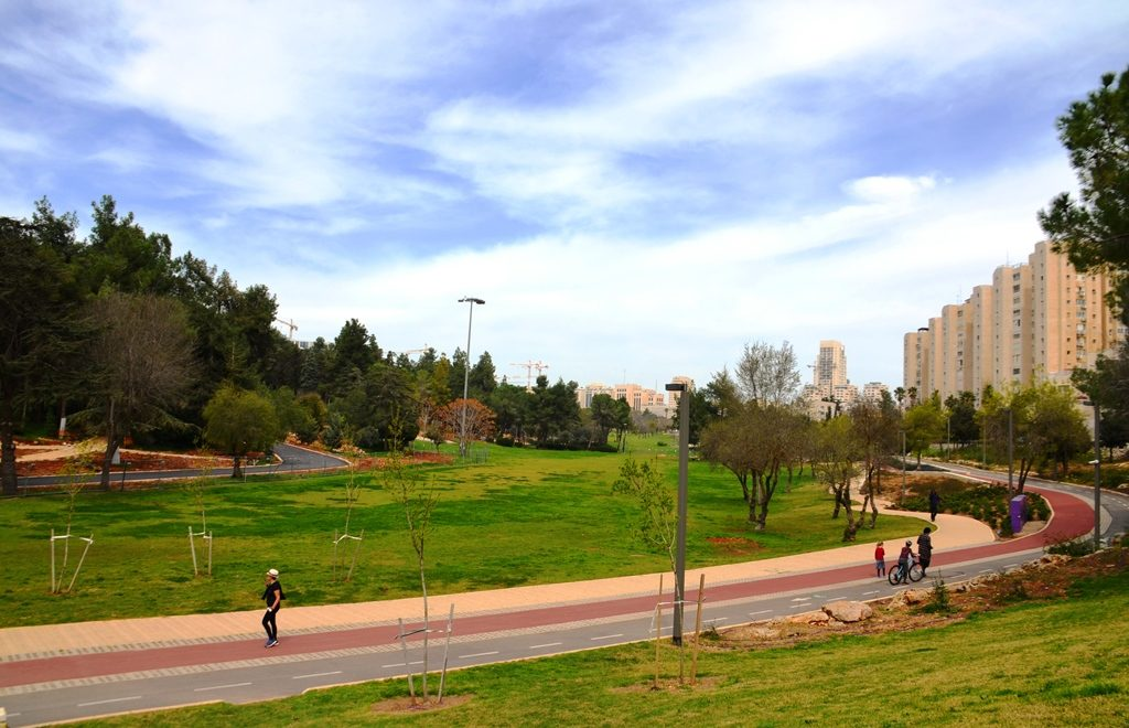Gan Sacher Park in Jerusalem Israel