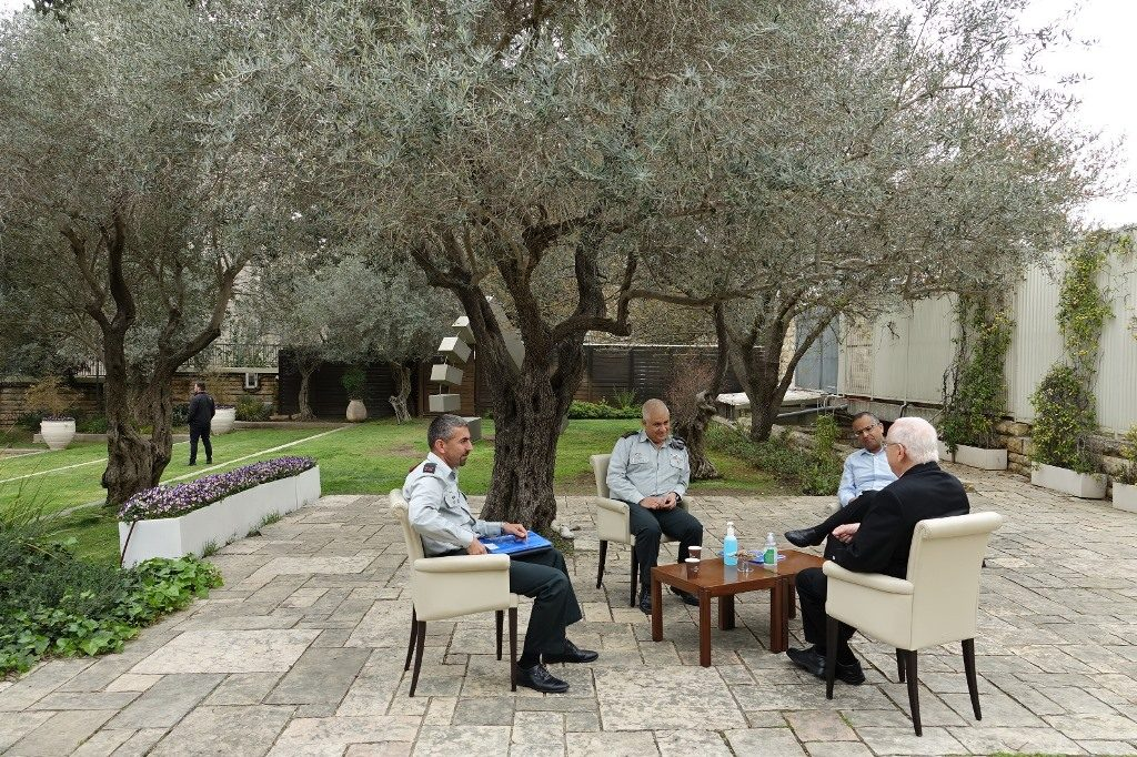 President Rivlin meeting with IDF on situation of Corona virus