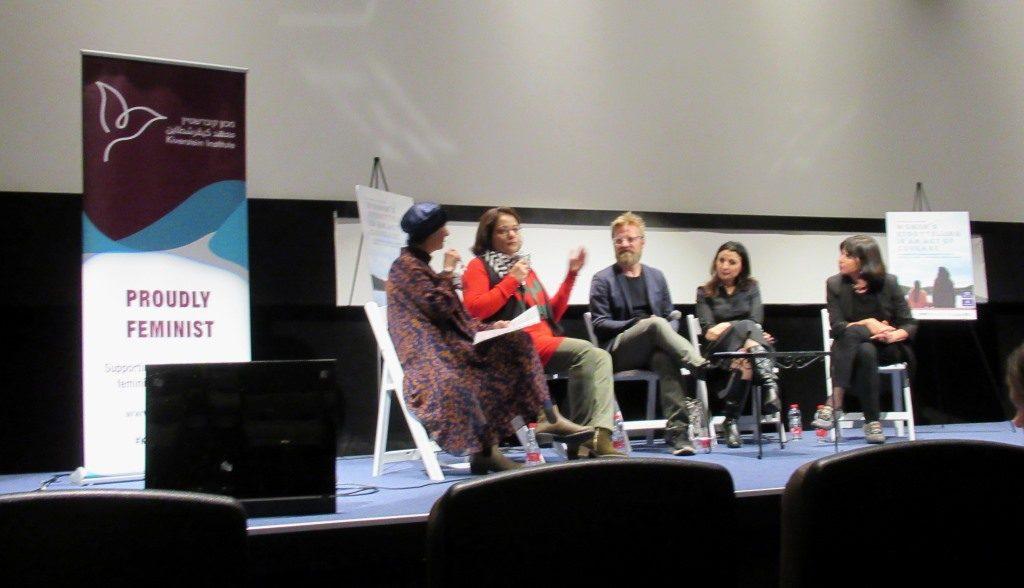 Peta Pellach moderates panel at The 49% Festival at Jerusalem Cinematheque