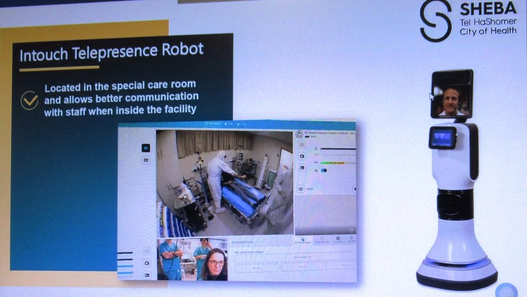 Dr. Galia Barkai, Head of Telemedicine, Sheba Medical Center slide for Robot