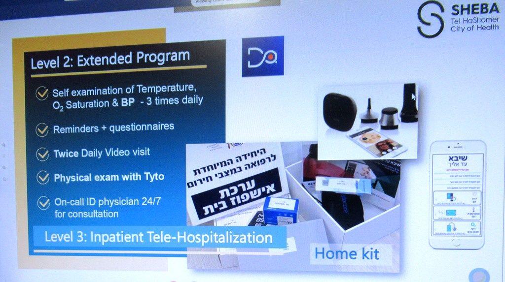 Dr. Galia Barkai, Head of Telemedicine, Sheba Medical Center slide for home care level 2