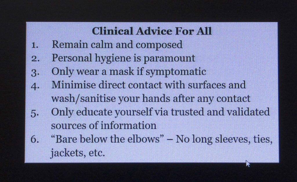 Clinical advise for COVID-19