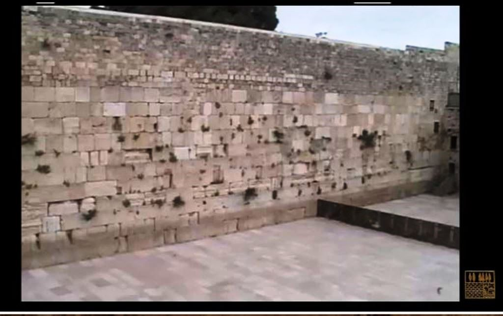 Screen shot of Kotel cleared before Yom HaZikaron
