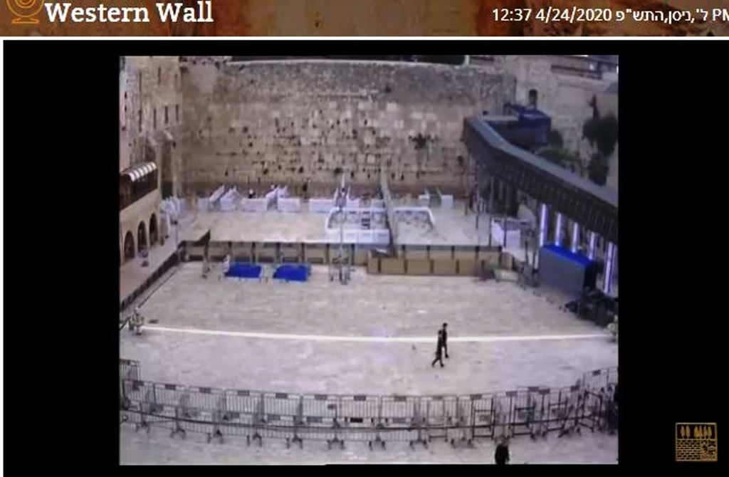 Kotel on Friday Rosh Chodesh Iyar during coronavirus