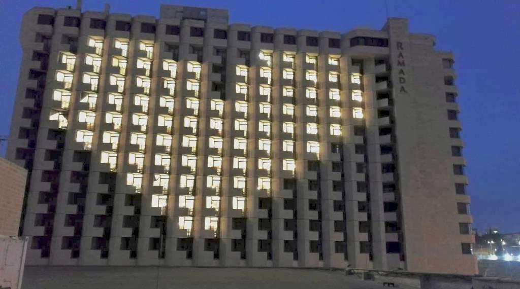 Jerusalem, Israel During Corona Ramada Hotel closed and light shape of heart