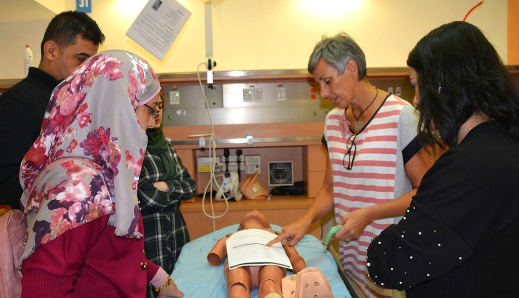 Australian doctor training medical specialists in Israeli hospital