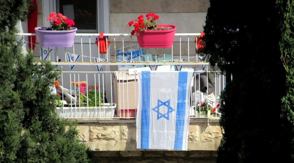 Israeli flag for Independence Day