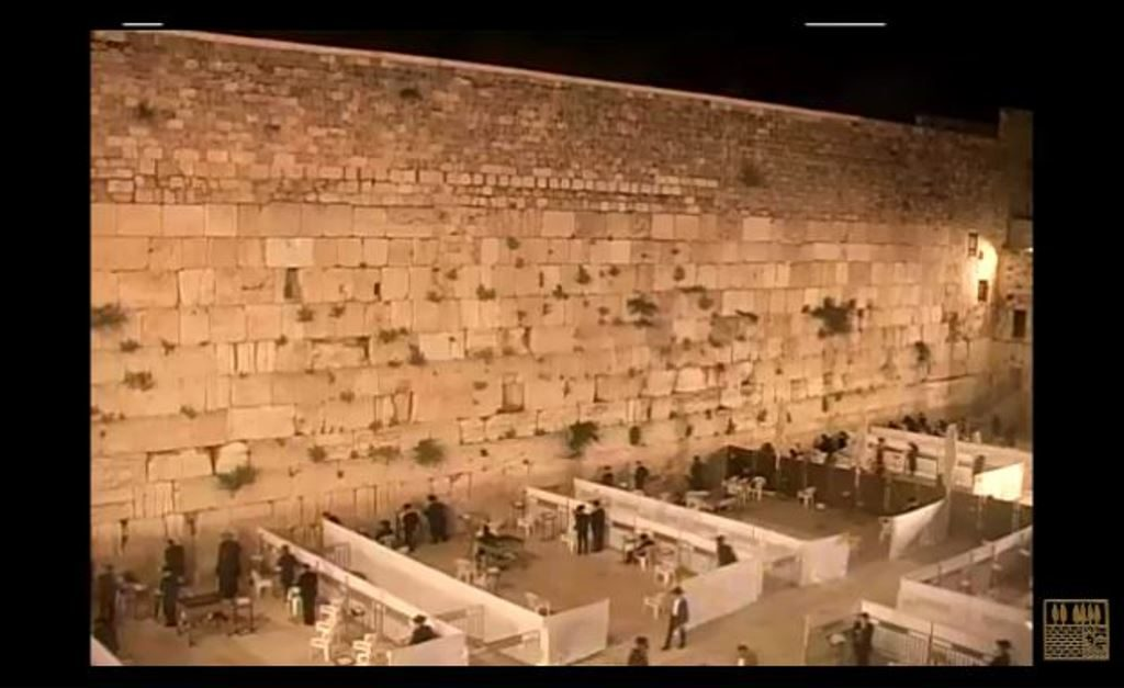 Jerusalem Western Wall divided into sections for social distancing opening up