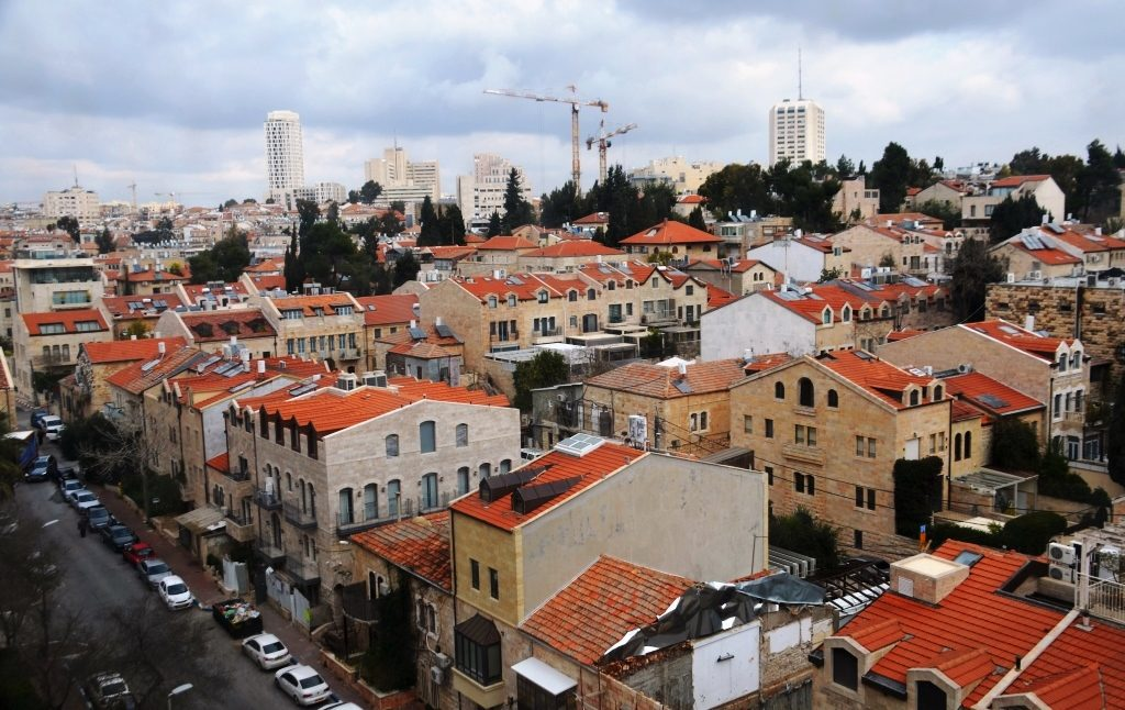 View of Nachlaot in Jerusalem Israel