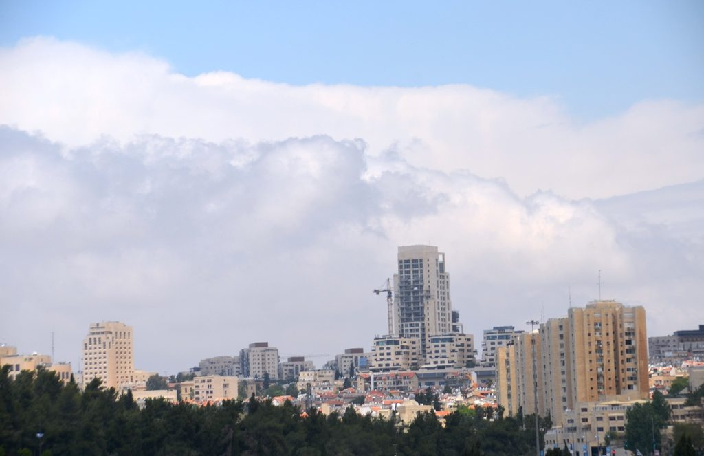 Jerusalem Israel clouds in sky