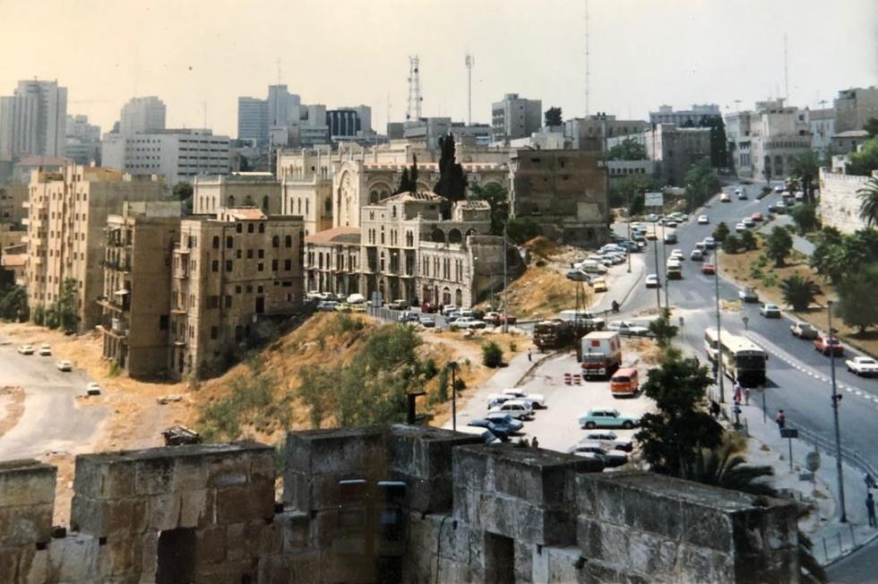 Image from Tower of David before Mamilla Mall renovation