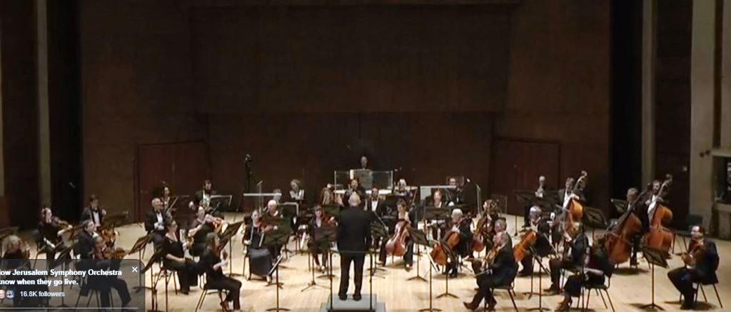 Jerusalem Symphony Orchestra performs after corona virus pandemic closing