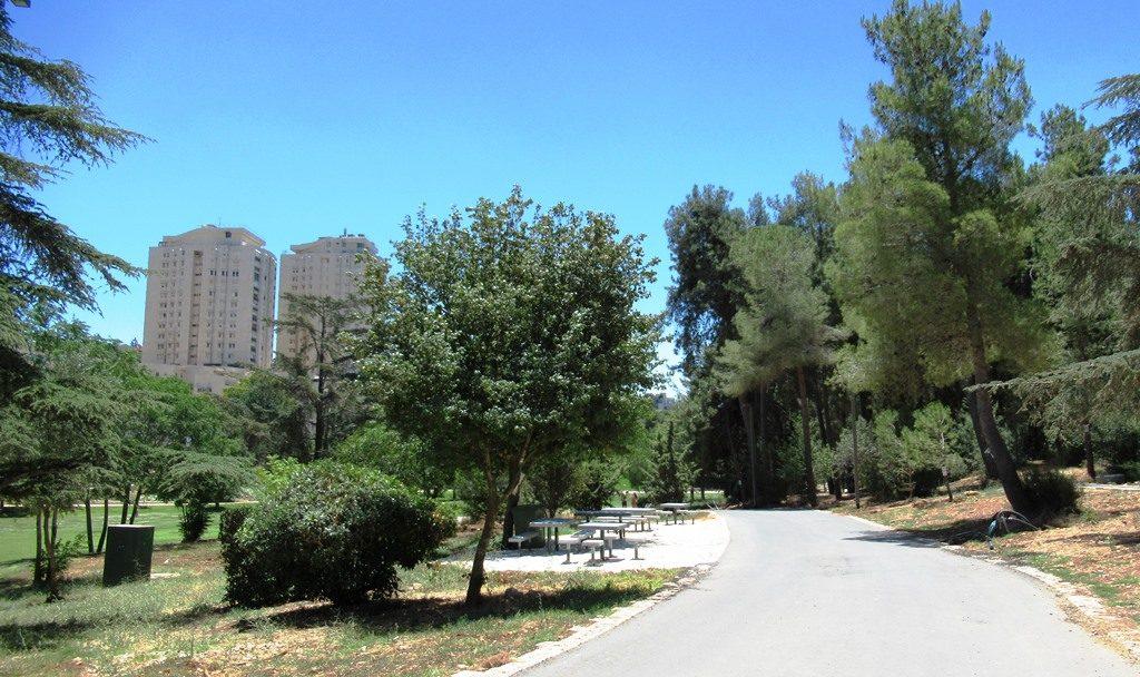 Jerusalem Israel Sacher Park new eating areas