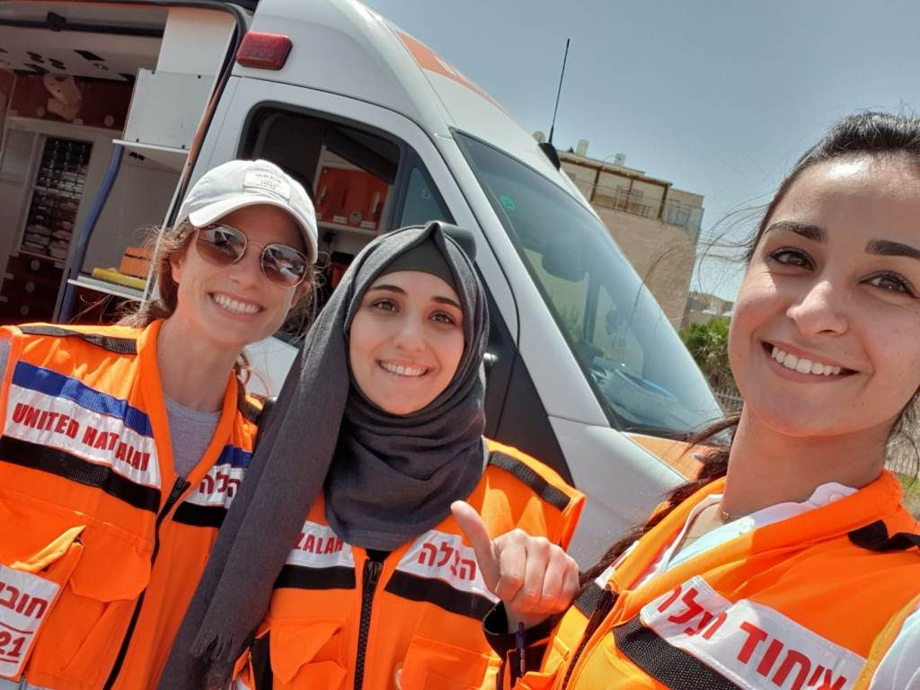 Muslim and Jewish female United Hatzalah volunteer team