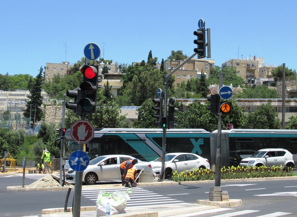 Jerusalem Israel new traffic lights