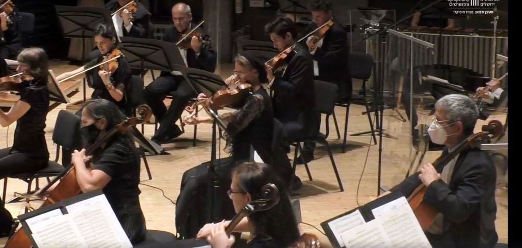 Musicians in the Jerusalem Symphony Orchestra at Jerusalem Theater