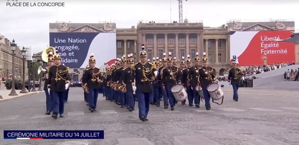 French ceremony for Bastille Day