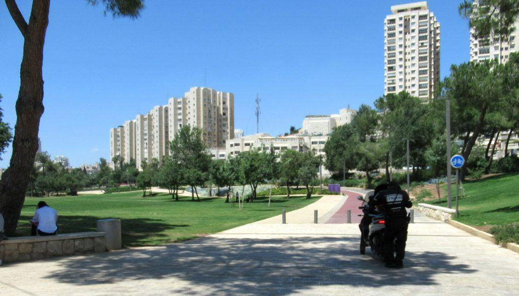 Jerusalem Israel police in Sacher Park
