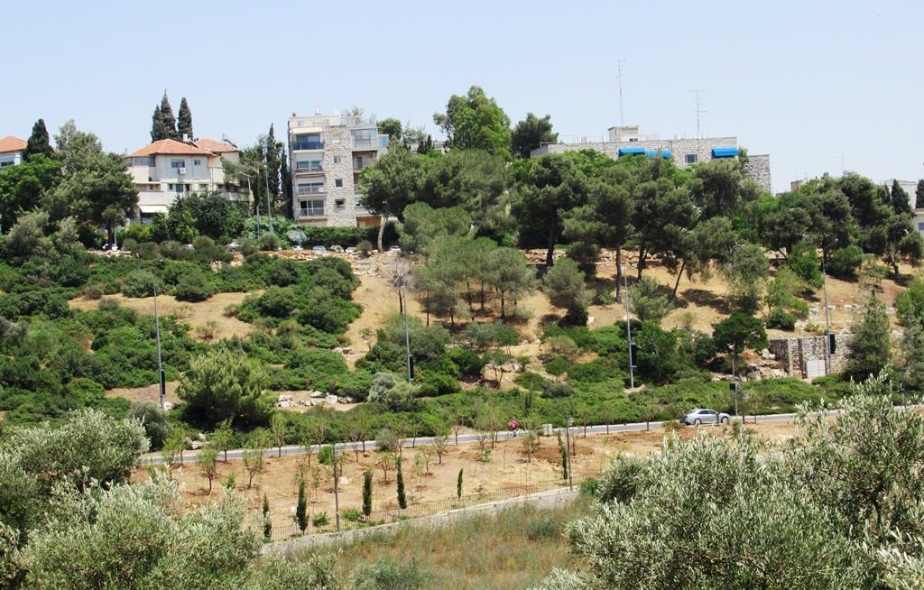 Jerusalem Rechavia view from Valley of the Cross