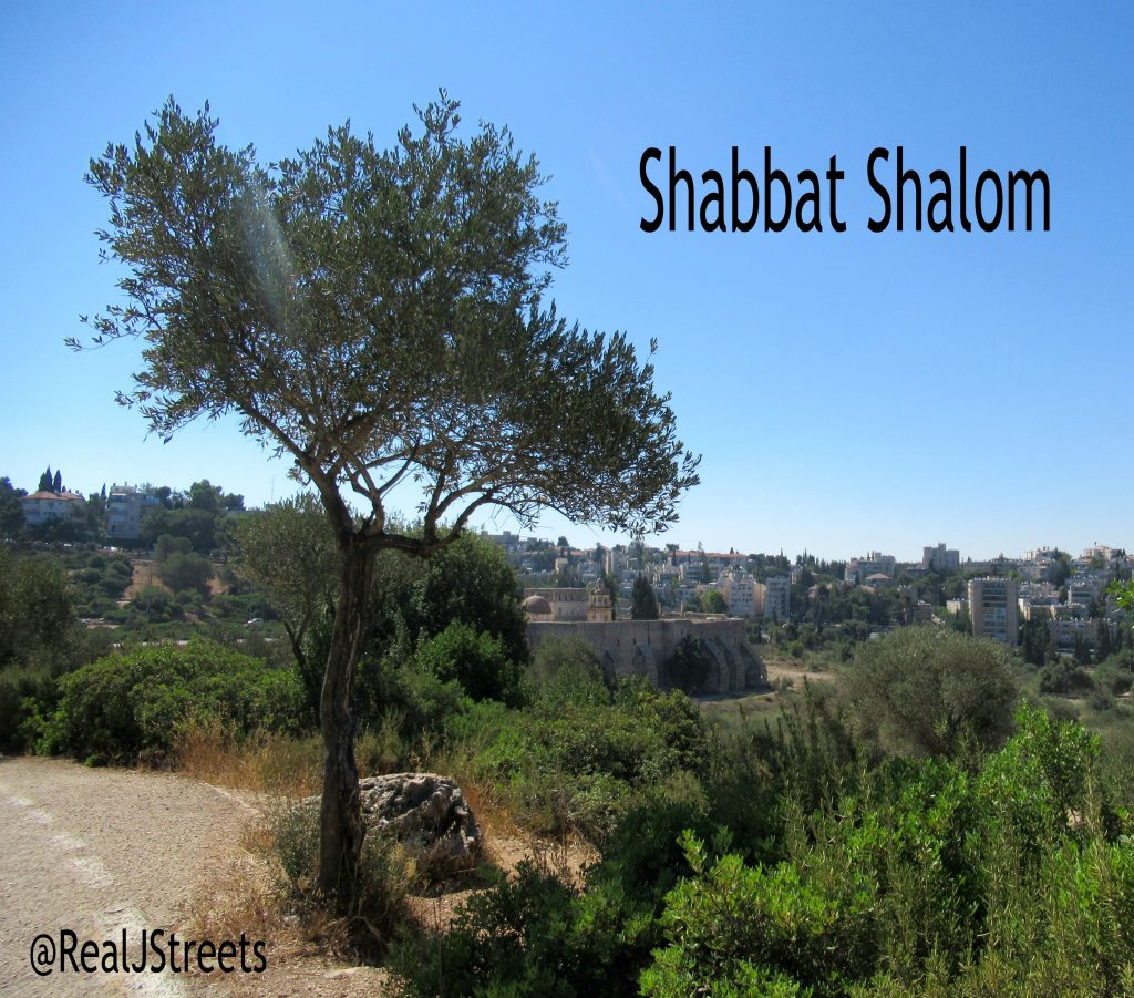 Jerusalem view for Shabbat Shalom poster