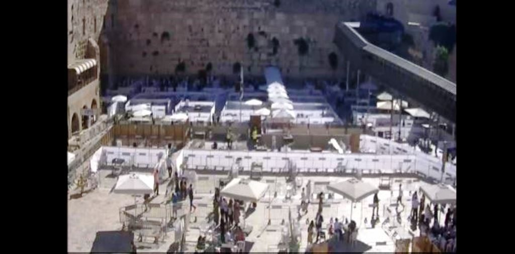 Kotel during coronavirus for morning services