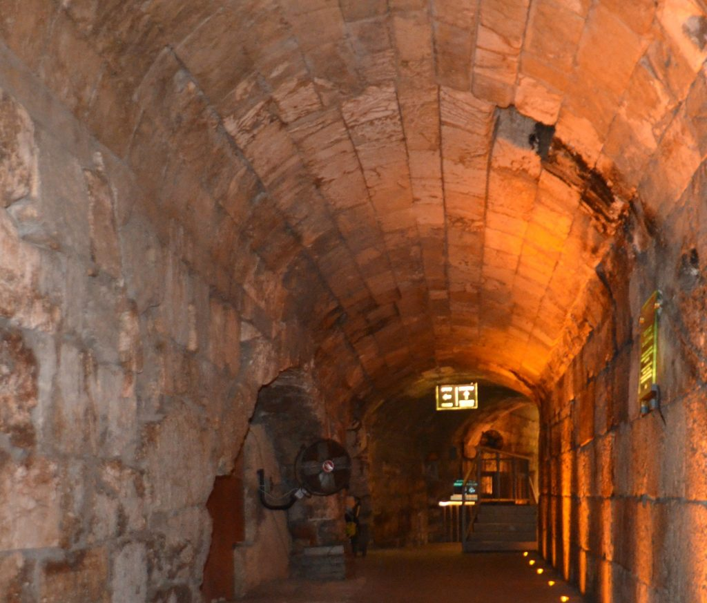 Jerusalem Israel Old City Western Wall Tunnel