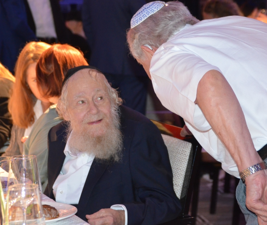 Rabbi Adin Even Israel Steinsaltz at gala dinner at Jerusalem Orient in 2018