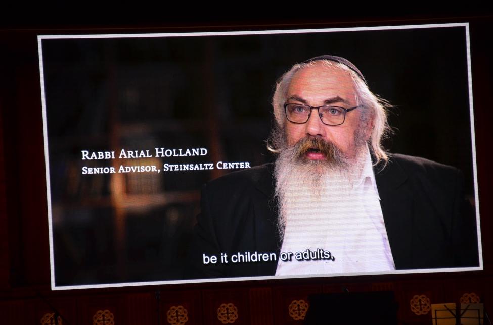 Steinsaltz Center video screen