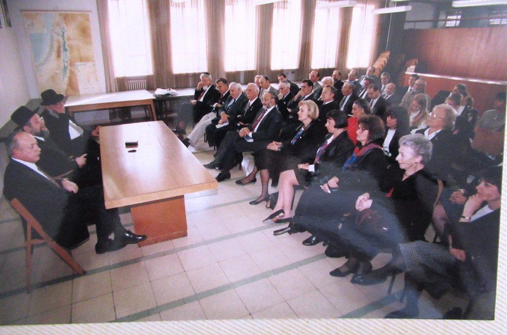 Australian leadership mission at Heichel Shlomo with Chief Rabbi Yisrael Meir Lau in 1995