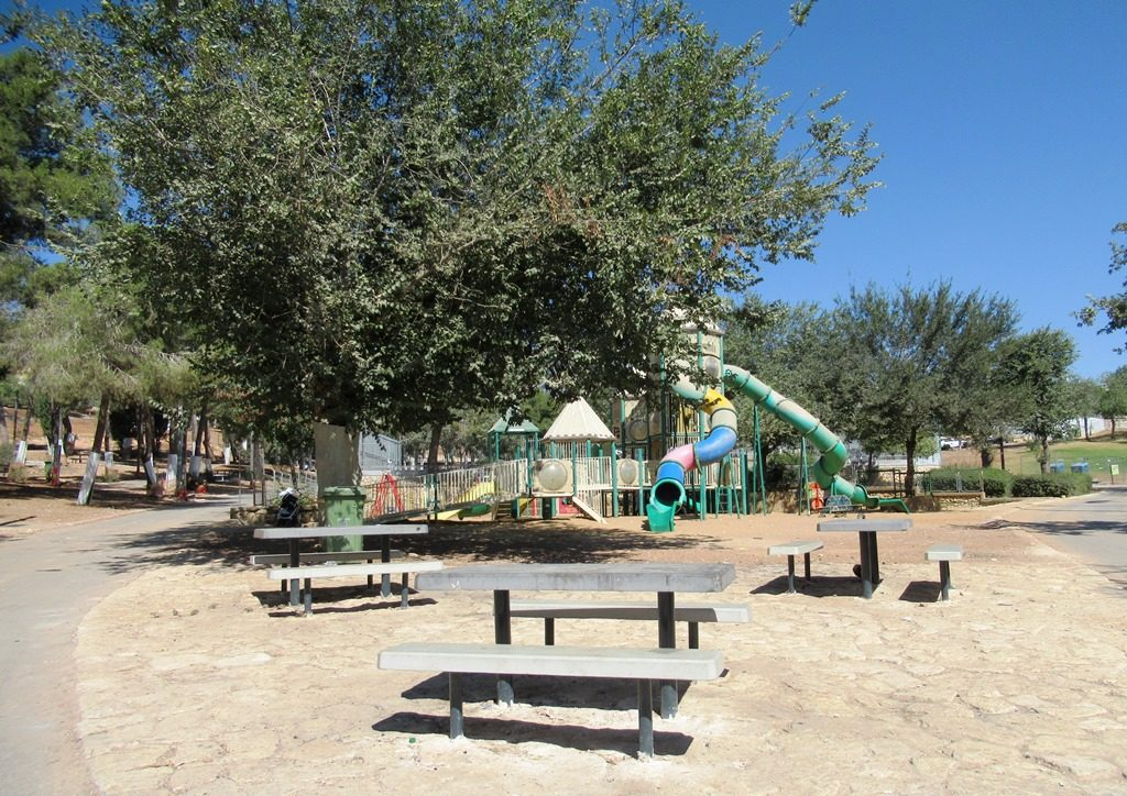 Sacher Park new seating near the play equipment