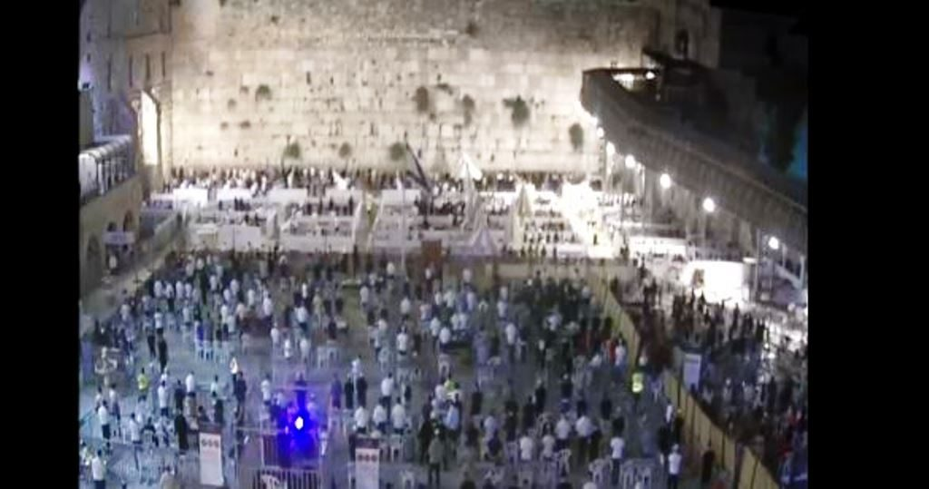 Kotel for COIVD-19 selihot