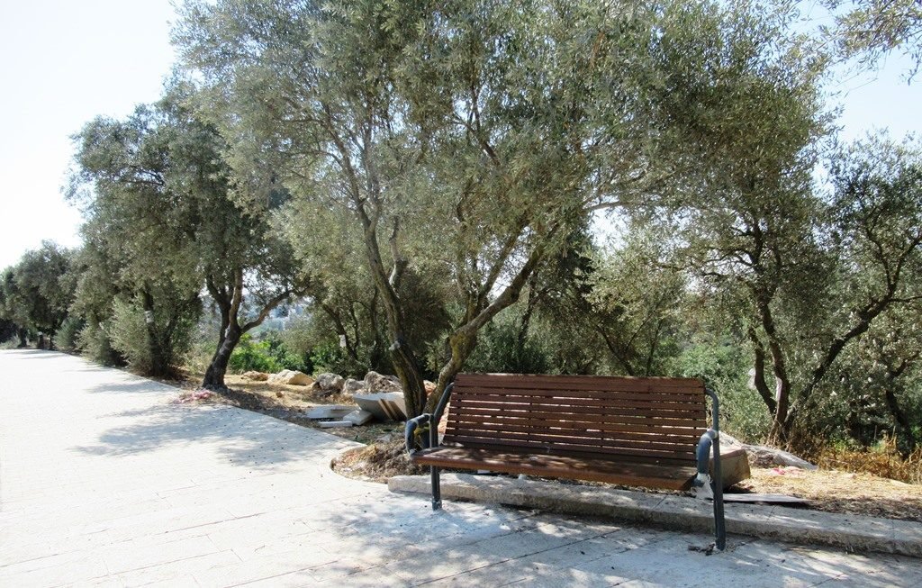 Public bench in Jerusalem Israel