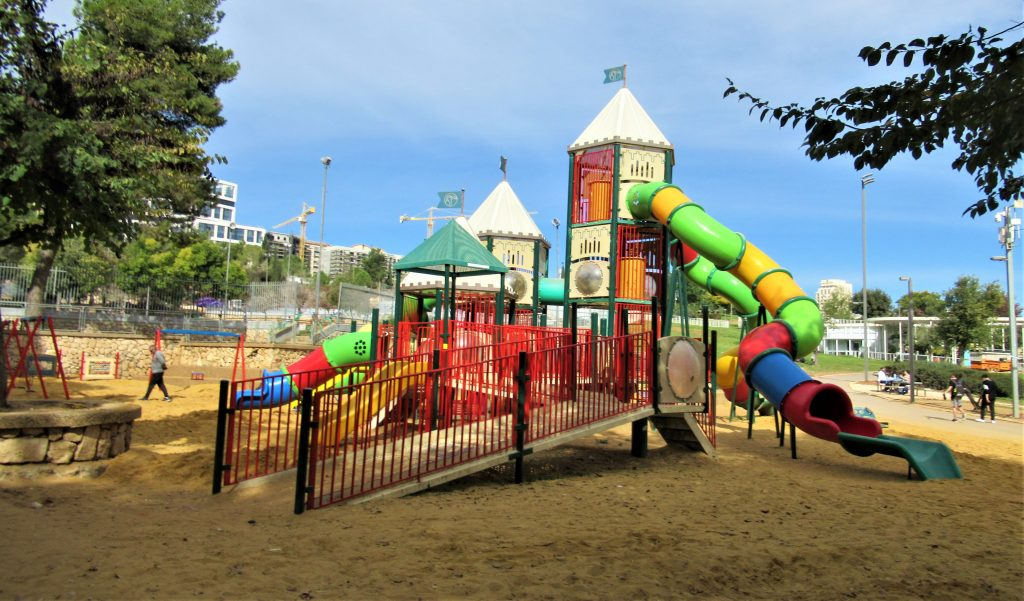 Jerusalem Sacher Park children's play equipment with new access ramp