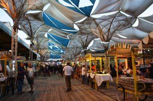 Sukkot in Jerusalem Israel Tachana Rishona stalls