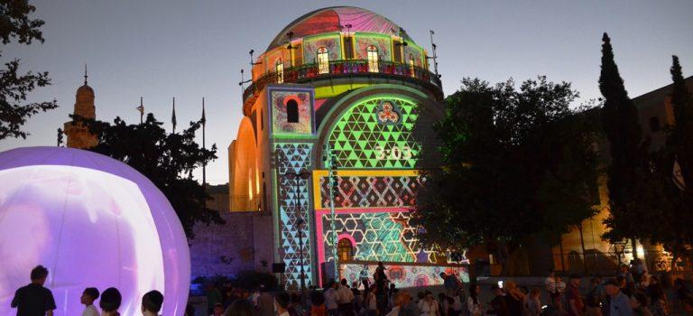 Jerusalem Light Festival in Old City
